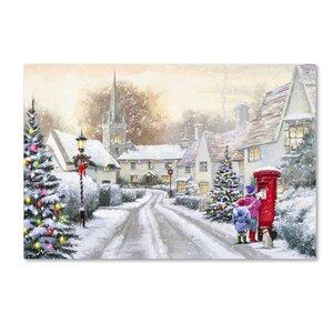 'Snowy Village' Print on Canvas by Trademark Fine Art