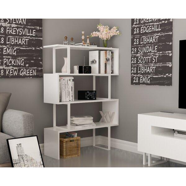 Malveaux Geometric Bookcase by Wrought Studio