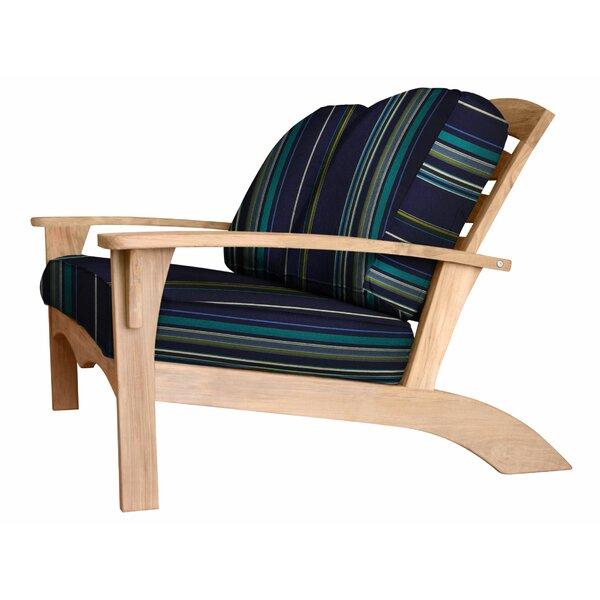 Frausto Teak Loveseat with Sunbrella Cushions by Millwood Pines