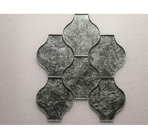 Lanterna Wall 12 x 12 Glass Mosaic Tile in Green/Silver Clear by Seven Seas