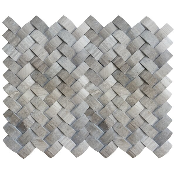 Metro Twine 1 x 1 Marble Mosaic Tile in Gray by Emser Tile