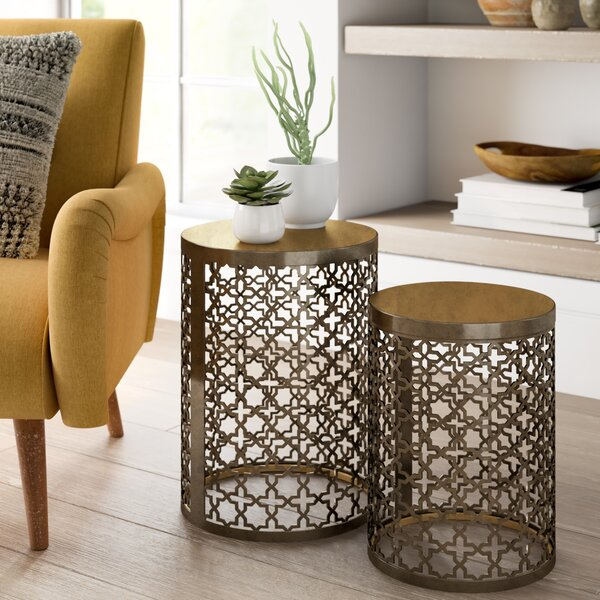 Linco Doleman Perforated 2 Piece Nesting Table By Mercer41