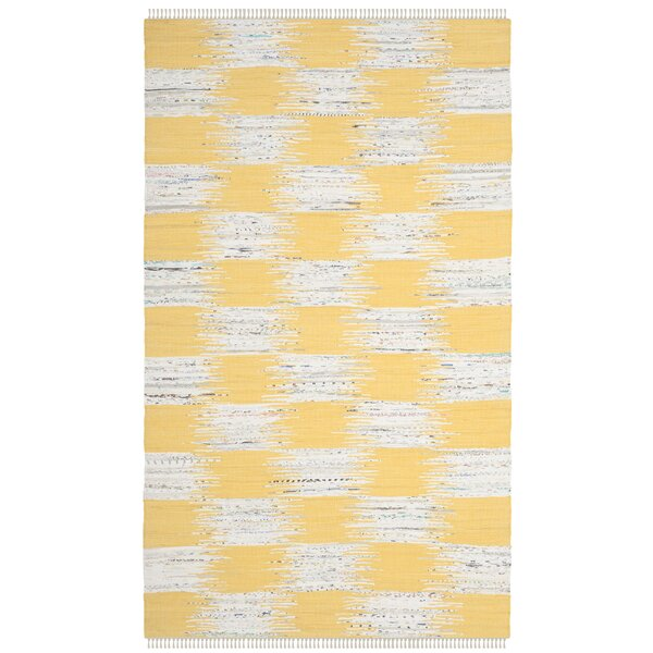Opie Hand-Woven Yellow/Gray Area Rug by August Grove