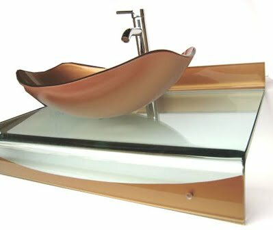 31 Single Floating Bathroom Vessel Vanity Set by Kokols