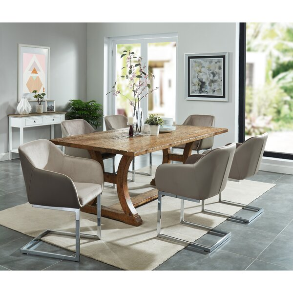 Grieco 7 Piece Solid Wood Dining Set by Gracie Oaks