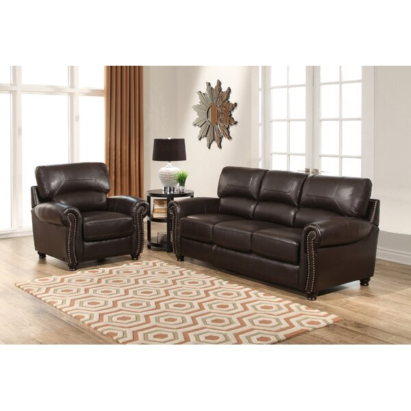 Boley 2 Piece Leather Living Room Set by Fleur De Lis Living