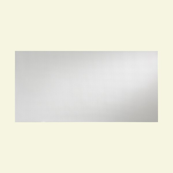 Squares 48 x 96 PVC Backsplash Panel in Gloss White by Fasade