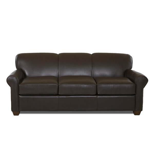 Jennifer Leather Sleeper Sofa by Wayfair Custom Upholstery™