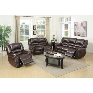 Miltonsburg Reclining 3 Piece Living Room Set by Red Barrel Studio
