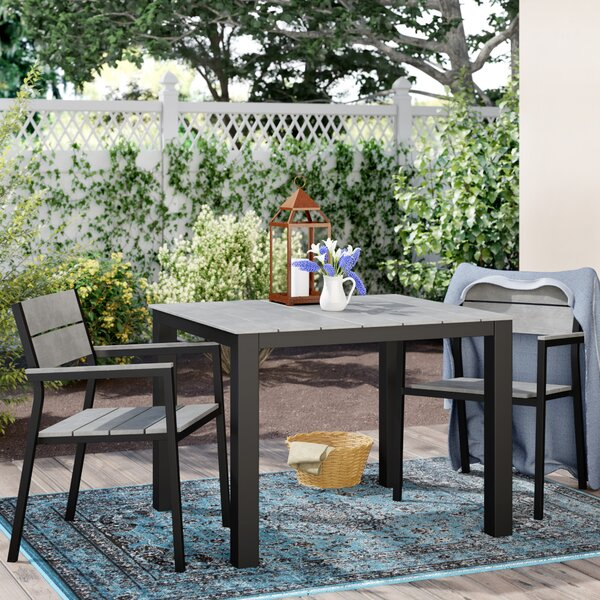 Windsor Outdoor Patio 3 Piece Dining Set by Sol 72 Outdoor