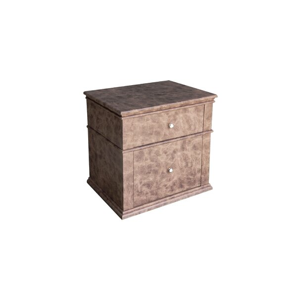 Ahmed 2 Drawer Nightstand by 17 Stories