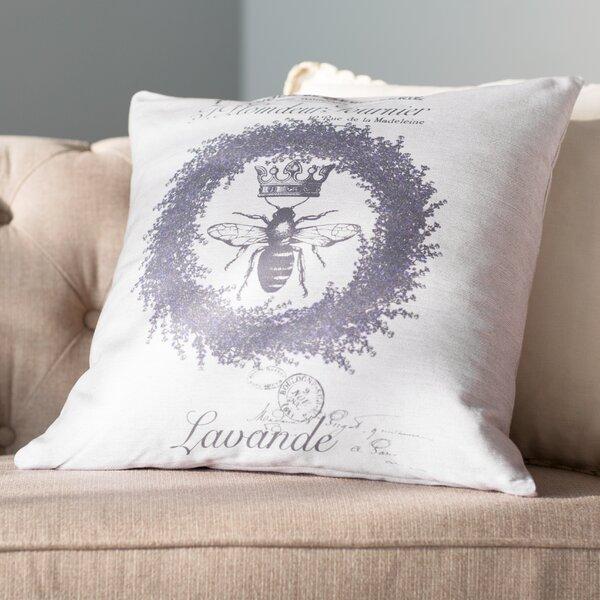 Alana Crest Linen Throw Pillow by Lark Manor