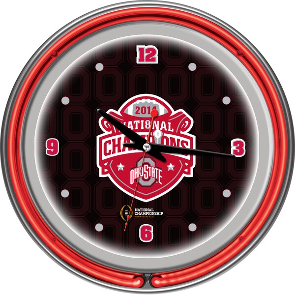 OSU National Champions 14.5 Neon Wall Clock by Trademark Global