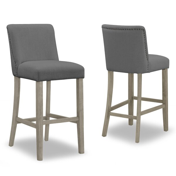 Gelsomina 29.9 Bar Stool (Set of 2) by One Allium Way