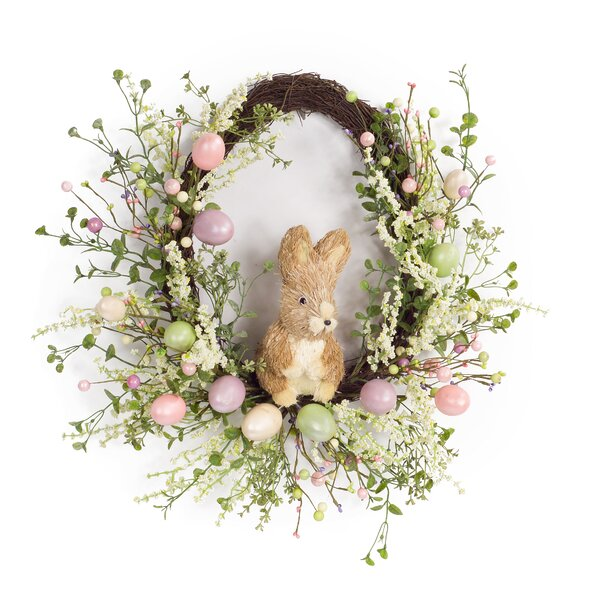 Egg And Rabbit 22 Wreath By The Holiday Aisle.
