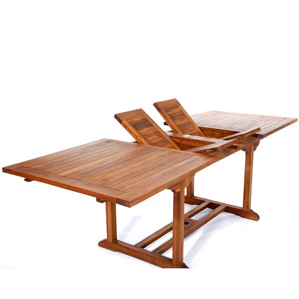 Humphrey Extendable Teak Dining Table by Longshore Tides