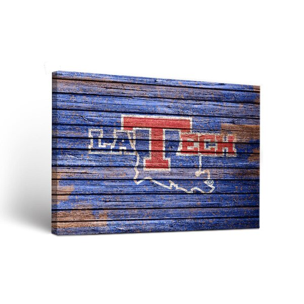 NCAA Weathered Version Framed Graphic Art on Wrapped Canvas by Victory Tailgate