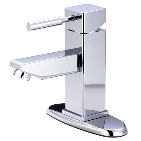 Concord Bathroom Faucet with Push-Up and Deck Plate by Kingston Brass