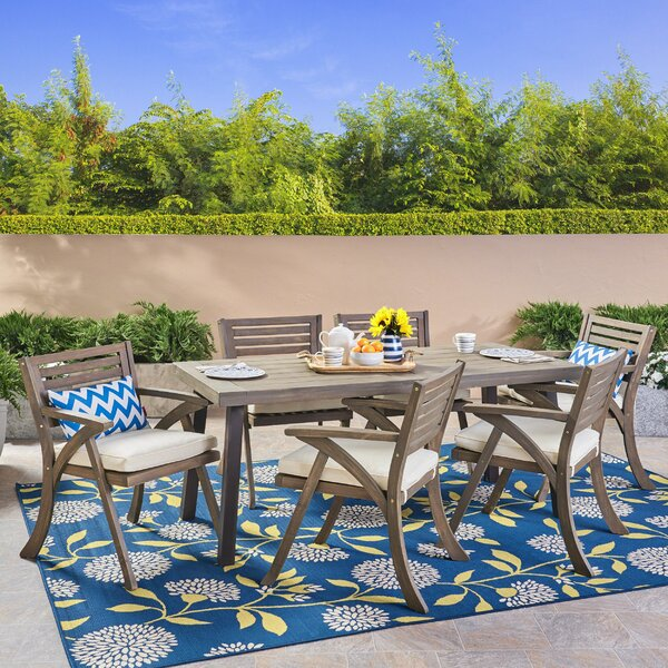 Larracey 7 Piece Dining Set with Cushions by Gracie Oaks