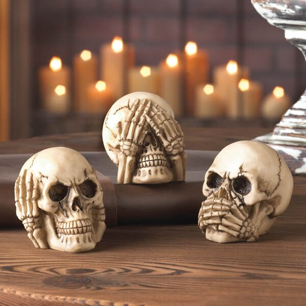 See Hear Speak Skull Set By The Holiday Aisle by The Holiday Aisle