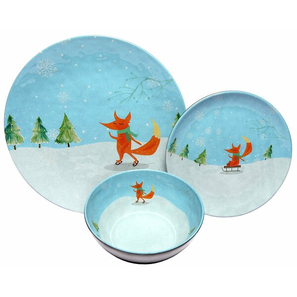 Winter Fox Melamine 12 Piece Dinnerware Set, Service for 4 by The Holiday Aisle