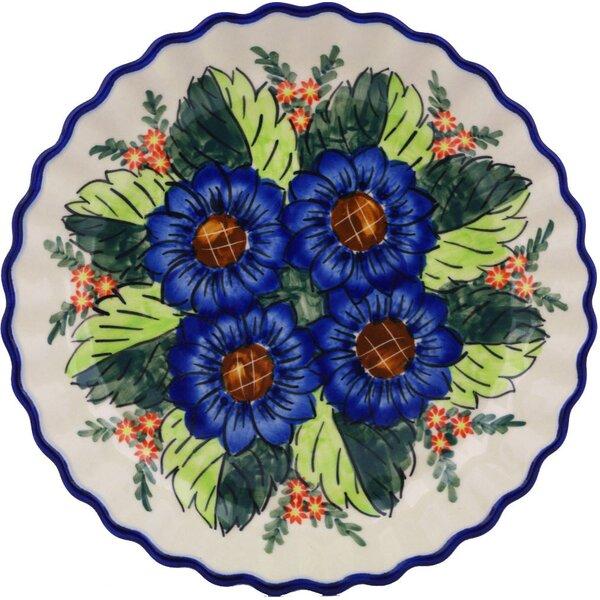 Blue Bouquet Fluted Pie Dish by Polmedia