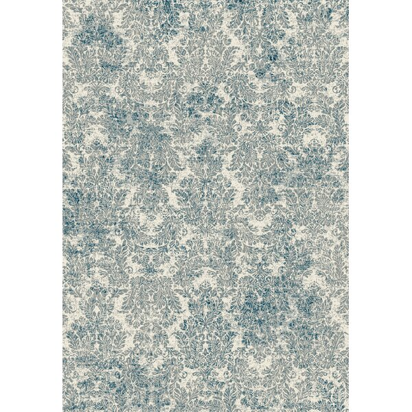 Benoit Ivory/Blue Area Rug by Lark Manor