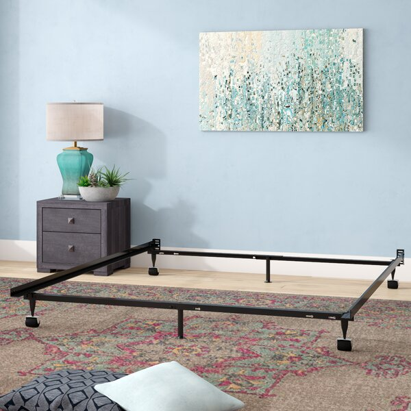 Hicklin Heavy Duty 6-Leg Adjustable Metal Bed Frame with Rug Roller by Symple Stuff