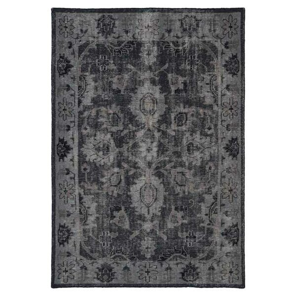 Deol Black Area Rug by World Menagerie