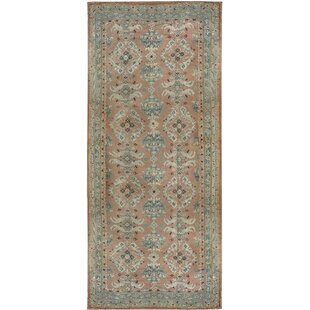 One-of-a-Kind Oushak Hand-Knotted Wool Rose/Aqua Indoor Area Rug By Bokara Rug Co., Inc.