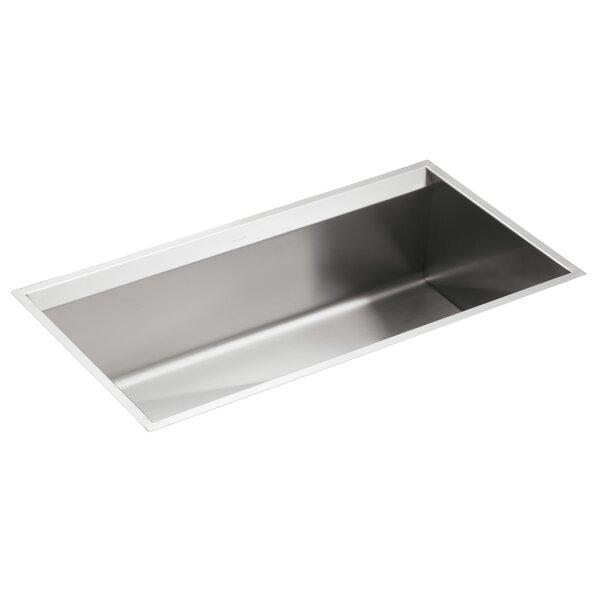 8 Degree 33 L x 18 W x 10 Under-Mount Large Single-Bowl Kitchen Sink by Kohler