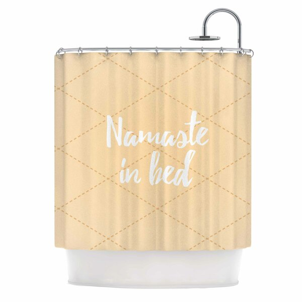 Namaste in Bed Shower Curtain by East Urban Home