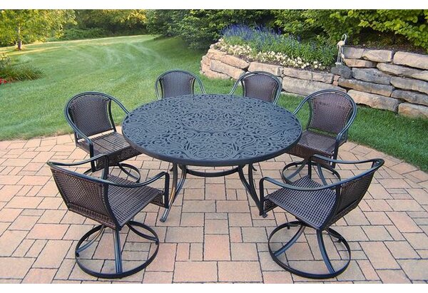 Tuscany 7 Piece Dining Set by Oakland Living