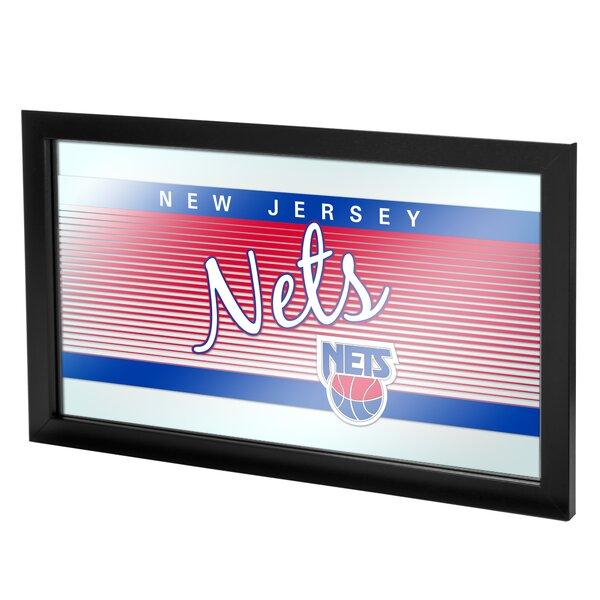 NBA Hardwood Classics Framed Logo Wall Mirror by Trademark Global