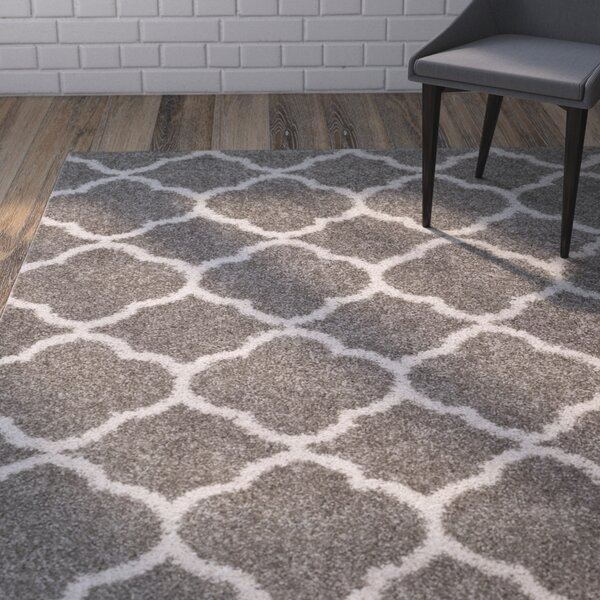 Helsel Gray Area Rug by Wrought Studio