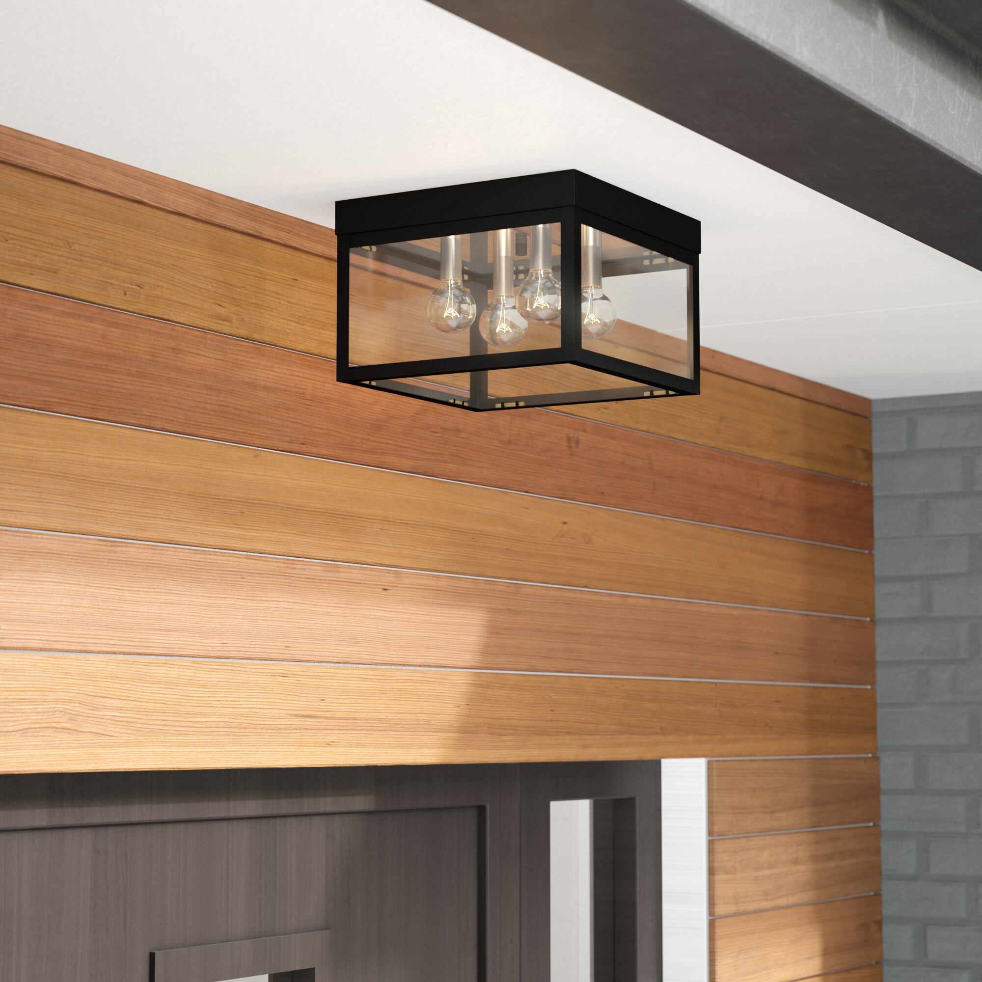 Image of: Tucana 4 Bulb Outdoor Flush Mount Reviews Allmodern