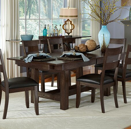 Lolington Extendable Solid Wood Dining Table by Loon Peak