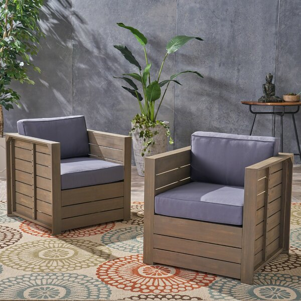 Are Patio Chair with Cushion (Set of 2) by Gracie Oaks