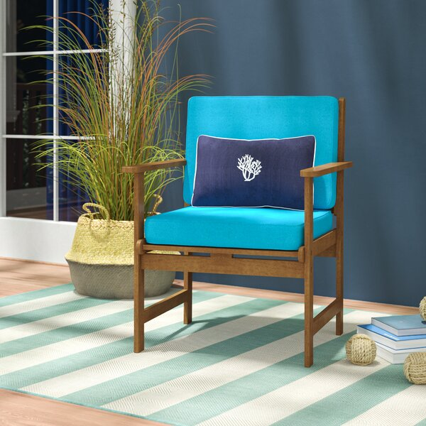 Sabbattus Gulf Port Patio Chair with Cushion (Set of 2) by Breakwater Bay Breakwater Bay