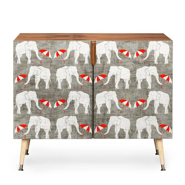 Elephant And Umbrella 2 Door Accent Cabinet By East Urban Home