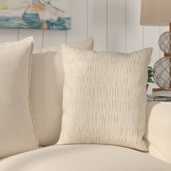 Sunrose Velvet Throw Pillow by Rosecliff Heights