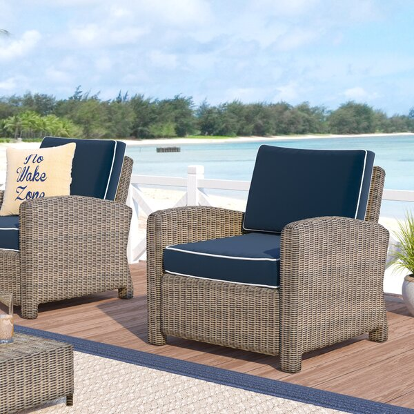 Dardel 2 Deep Seating Chairs with Cushion by Beachcrest Home