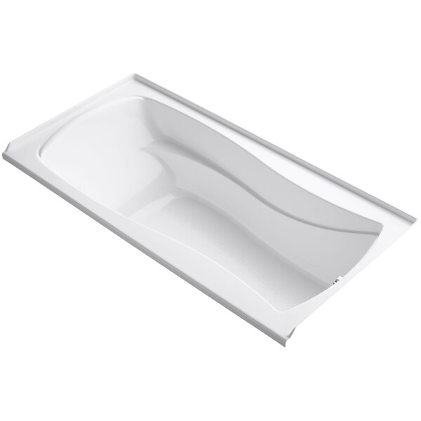 Mariposa Alcove Bubblemassage 72 x 36 Soaking Bathtub by Kohler