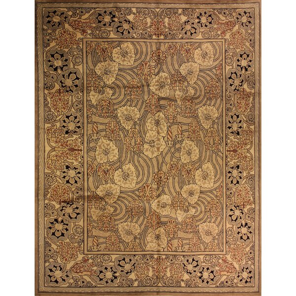 One-of-a-Kind Abigayle Hand-Knotted Wool Tan/Ivory Area Rug by Isabelline