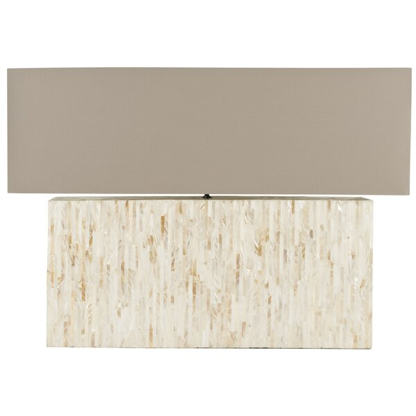 Ayers Mother Of Pearl Tile 15.8 Table Lamp by Safavieh