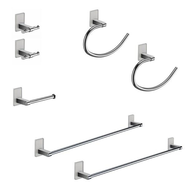 Maine 7 Piece Bathroom Hardware Set by Gedy by Nameeks