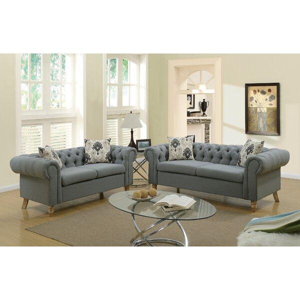 Chrystal 2 Piece Living Room Set by Ophelia & Co.