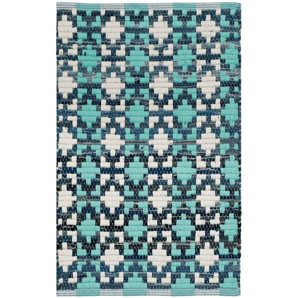 Saleem Hand-Woven Turquoise Area Rug by Bungalow Rose