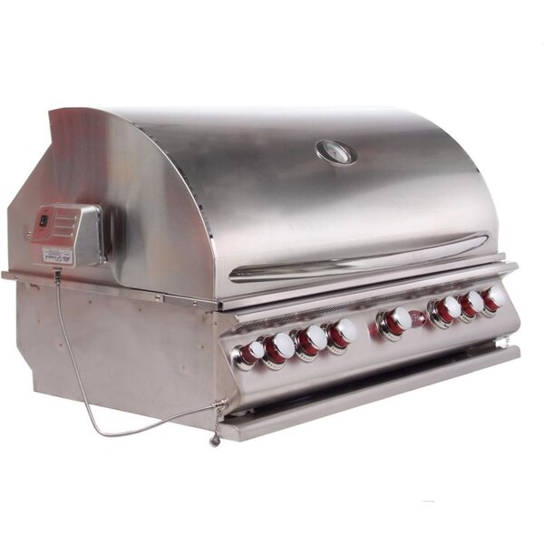 Convection 5-Burner Built-In Propane Gas Grill by