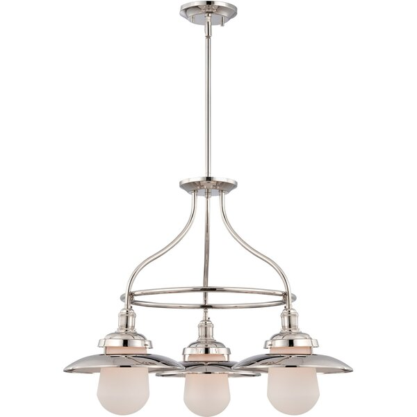 Kedzie 3-Light Shaded Wagon Wheel Chandelier By Charlton Home